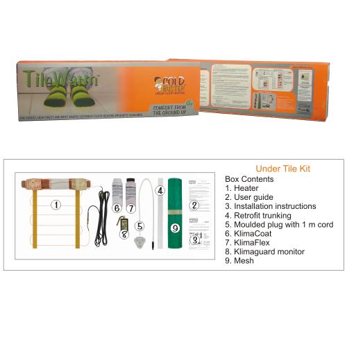 DIY underfloor heating tile kit
